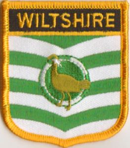 Wiltshire Embroidered Flag Patch, style 07